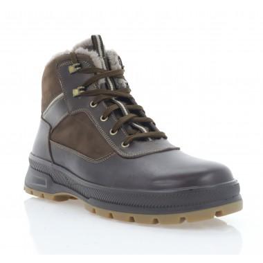 Ботинки мужские коричневые, кожа/нубук (5074 кор. Шк (шерсть)) Roma style