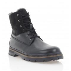 Ботинки мужские черные, кожа/нубук (5075 чн. Шк+Нб (шерсть)) Roma style