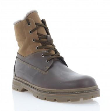 Ботинки мужские коричневые, кожа/нубук (5075 кор. Крейз (шерсть)) Roma style