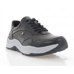 Кросівки чоловічі чорні, шкіра (5076-21 чн. Шк) Roma style