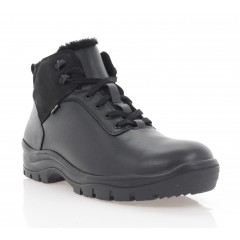 Ботинки мужские черные, кожа/нубук (5077 чн. Шк (шерсть)) Roma style