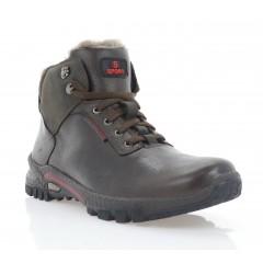 Ботинки мужские коричневые, кожа/нубук (5077 кор. Шк (шерсть)) Roma style