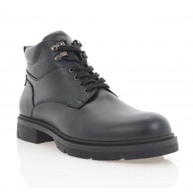 Ботинки мужские черные, кожа (5078 чн. Шк (шерсть)) Roma style
