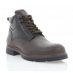 Ботинки мужские коричневые, кожа (5078 кор. Шк (шерсть)) Roma style