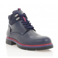 Ботинки мужские синие, кожа (5078 сн. Шк (шерсть)) Roma style