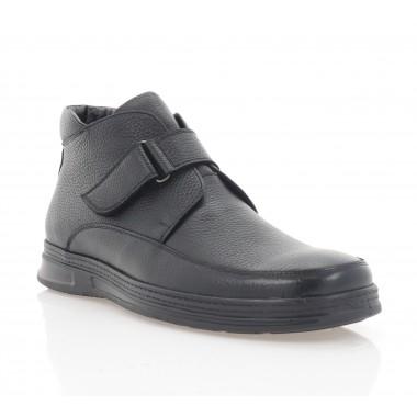 Ботинки мужские черные, кожа (5079 чн. Фл (шерсть)) Roma style