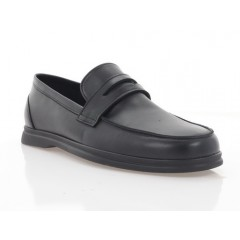 Туфли мужские черная, кожа (5081 чн. Шк) Roma style