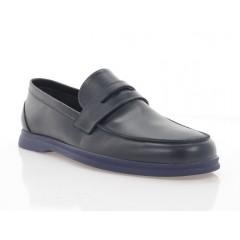 Туфли мужские синие, кожа (5081 сн. Шк) Roma style