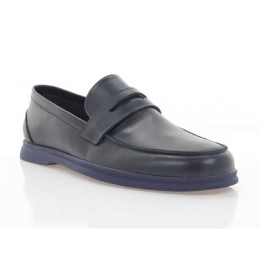Туфлі чоловічі сині, шкіра (5081 сн. Шк) Roma style