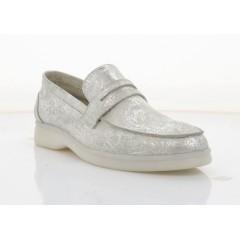 Мокасини жіночі срібні, шкіра (5081Ж срібна. Шк ) Roma style