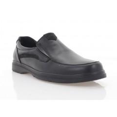 Туфли мужские черные, кожа (5083 чн. Шк) Roma style